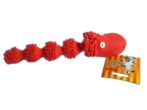 Magnum hračka pro psa drak pískací 24 cm latex červená  63324792754