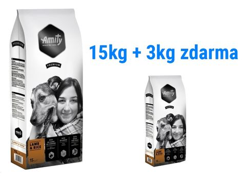 Amity premium dog Adult lamb & rice 15 kg