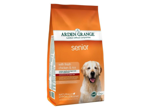 Arden Grange Senior with fresh Chicken & Rice  12 kg + 2 kg zdarma