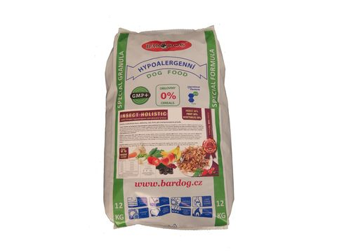 Bardog adult Insect Holistic 12 kg 22/12 insect 30%, fruit 30%, vegetables 28%, SLEVA