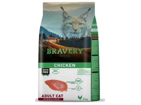 Bravery cat STERELIZED chicken 400 g