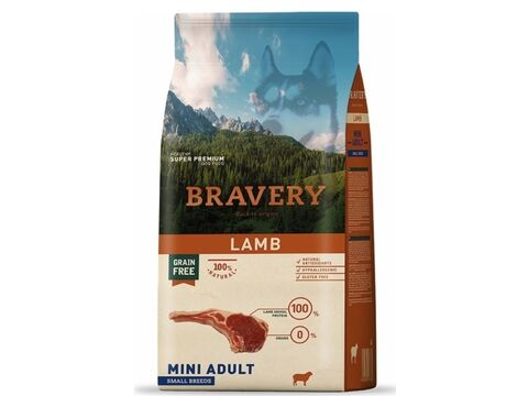 Bravery dog Adult mini grain free lamb 2 kg   1.172