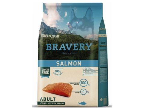 Bravery dog Adult Large/Medium grain free salmon 4 kg  SLEVA 3/2021