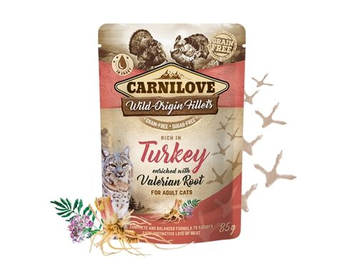 Carnilove Cat Pouch Rich in Turkey Enriched with Valerian 85g 4.138