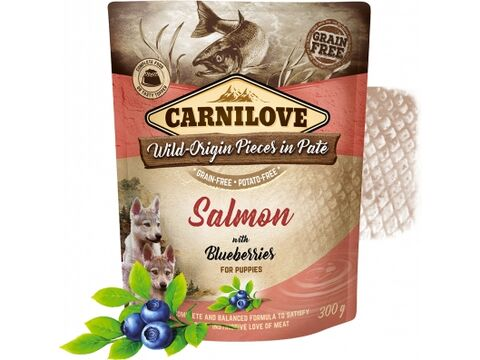 Carnilove Dog Pouch paté Salmon with Blueberries for Puppies 300 g 3.196