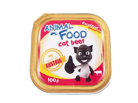 Animal Food cat adult hovězí 100 g vanička