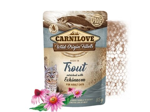 Carnilove Cat Pouch Rich in Trout Enriched with Echinacea 85g 4.143