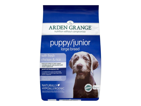 Arden Grange Puppy/Junior Large Breed with fresh Chicken 12 kg  + 2 kg zdarma