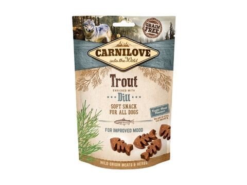 Carnilove Dog Semi Moist Snack Trout & Dill 200g 16.640