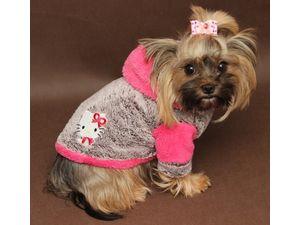 Marysa mikina s kapucí melír a růžová 25 cm délka 30 cm obvod obleček pro  psa 4c3f440ee4