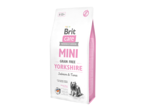 Brit Care Adult mini Yorkshire Grain Free  salmon & tuna 2 kg  13.171+ konzerva Brit 400g