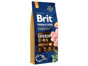 Brit Premium by Nature Adult  M 15 kg + 3 kg zdarma 13.591