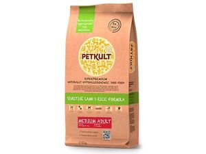 Petkult medium adult  lamb & rice 12 kg + 2 kg