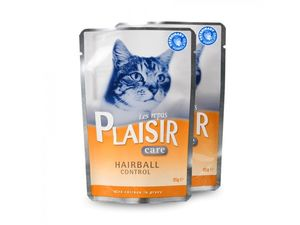 PLAISIR Care Hairball Control kapsička 85 g cat kuře ve šťávě
