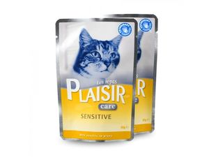 PLAISIR Care Sensitive kapsička 85 g cat kuře ve šťávě 440