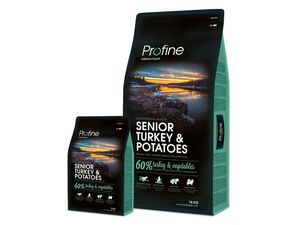 Profine Senior turkey & potatoes 15 kg + 3 kg zdarma 13.533