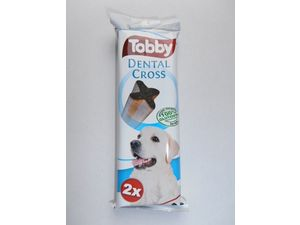TOBBY DENTAL CROSS 100g 2ks modrý
