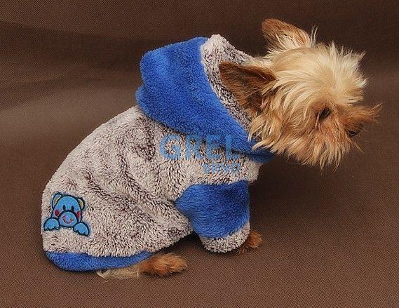Marysa mikina s kapucí rozepínací melír a modrá 30 cm délka 35 cm obvod  obleček doprodej 7894db4441